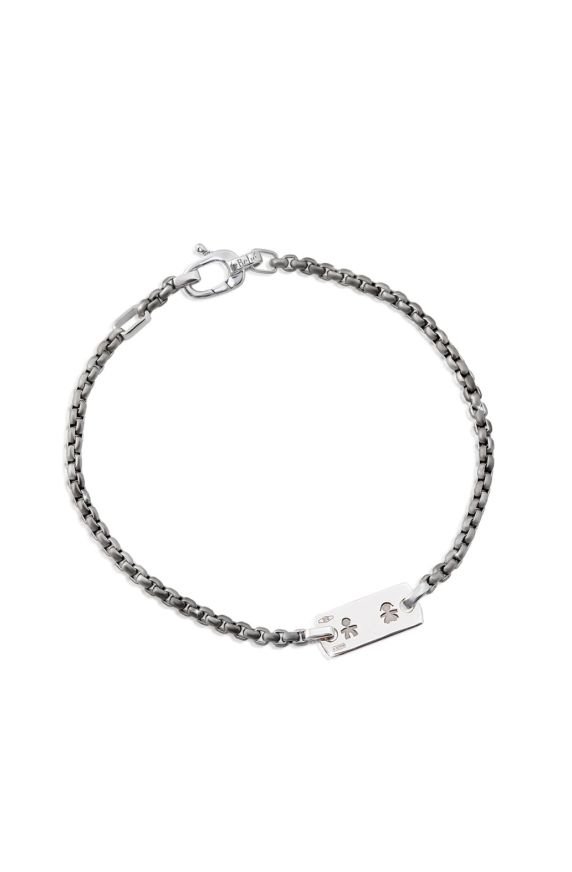Values Silhouettes Bracelet in Titanium And White Gold For Man