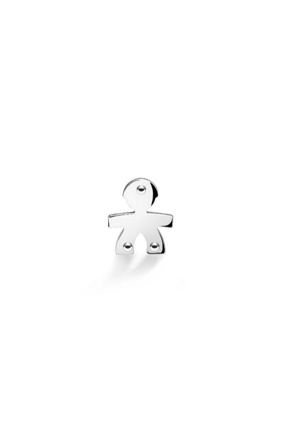 Mono earring I Classici boy white gold