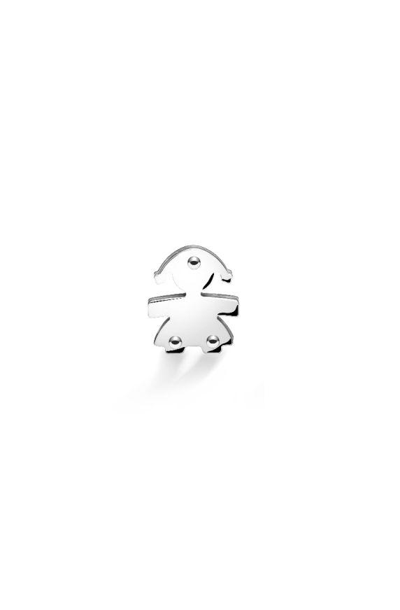 Mono orecchino I Classici bimba oro bianco