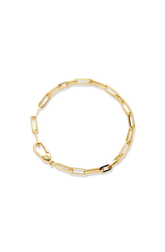 Bracelet I Classici in yellow gold and rectangular chain