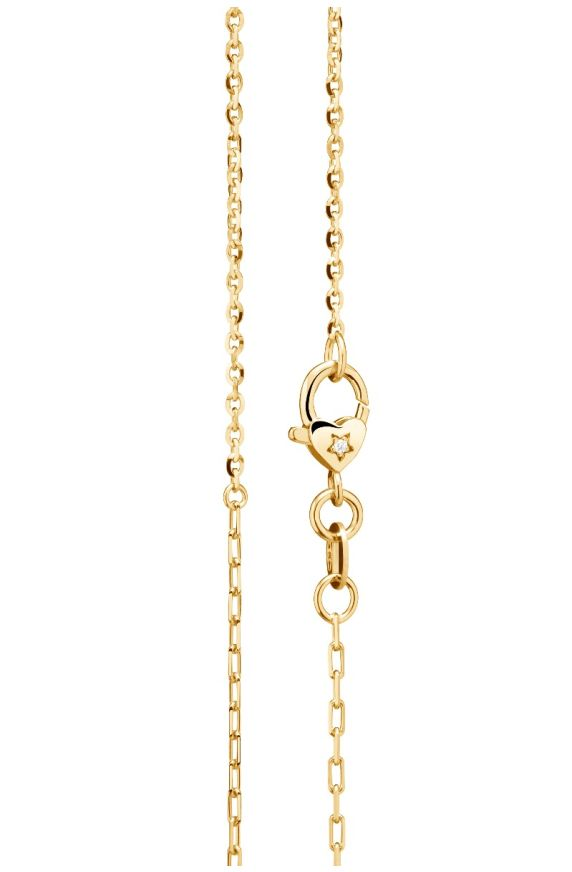 Necklace I Classici in yellow gold and heart-shaped carabiner