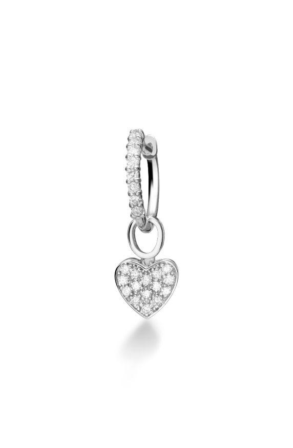Mono earring I Pavé Heart