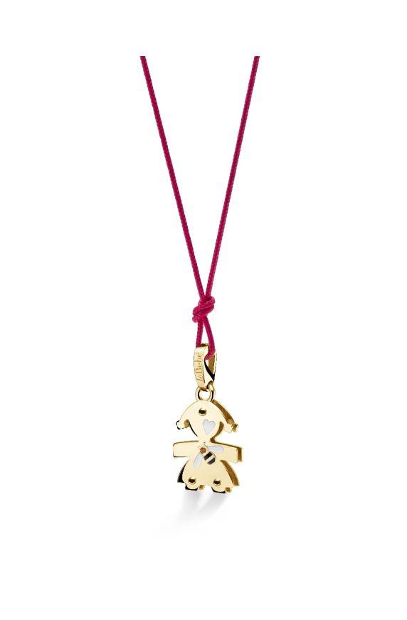 Lovely ♡ Ciondolo Bimba Oro Giallo Ape e Quarzo Citrino