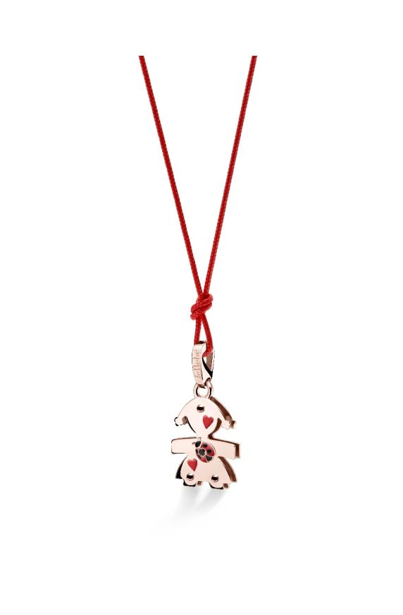 Lovely ♡ Ciondolo Bimba Oro Rosa Coccinella e Spinello