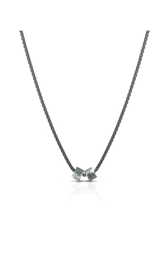 Add Chain in titanium and silver element for man