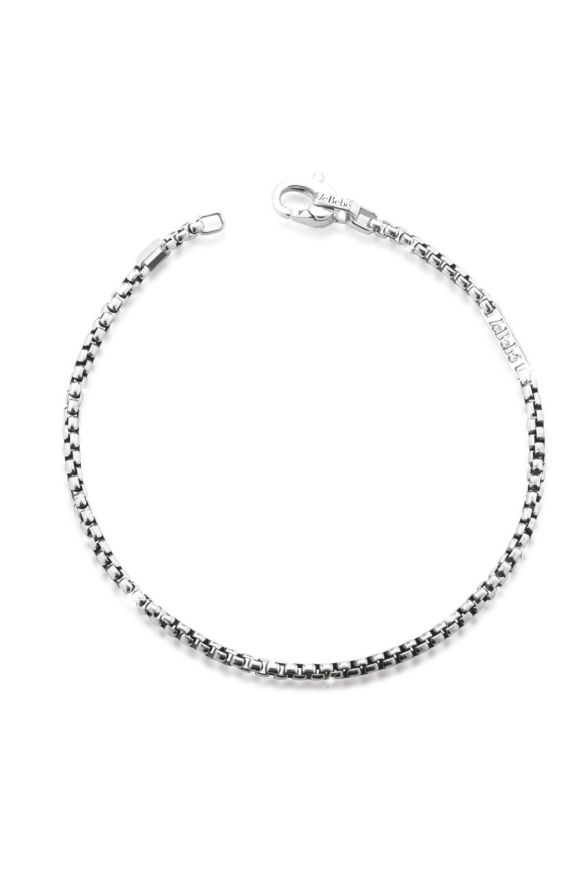 Silver Add bracelet with snap-hook and silver element